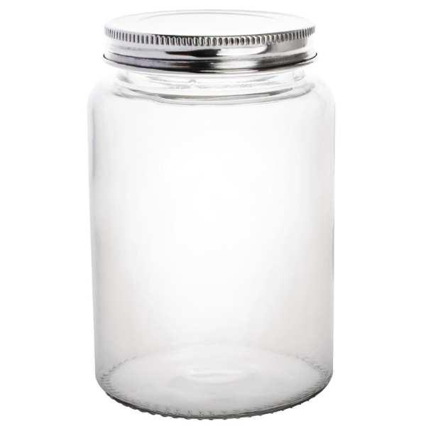 Vogue Glass Jar with St/St Lid - 86(dia)x130(h)mm 550ml 19oz (Box 6)-0