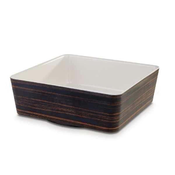 APS+ Square Bowl Oak/Cream 4Ltr 265x265mm (B2B)-0