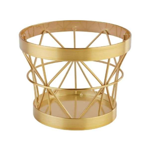 APS+ Metal Basket Gold Brushed 105mmd 80mm h (B2B)-0