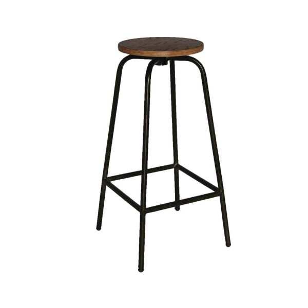 Bolero Industrial Wood & Metal Highstool (Pack 2)-0