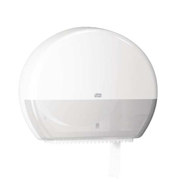 Tork White Jumbo Toilet Roll Dispenser-0
