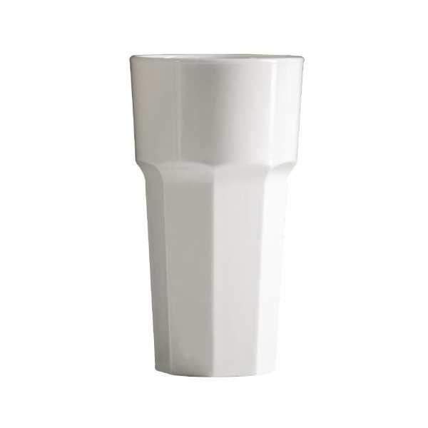 BBP Tall Tumbler White Polycarbonate - 341ml 12oz (Box 36)-0