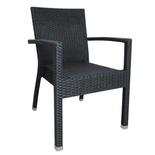 Bolero Wicker Armchair Charcoal (Pack 4)-0