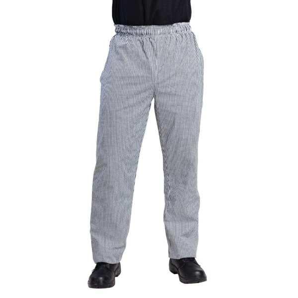 Vegas Small Black & White Check Trousers Polycotton - Size S-0