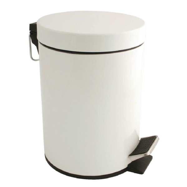 Bolero White Pedal Bin - 5Ltr-0