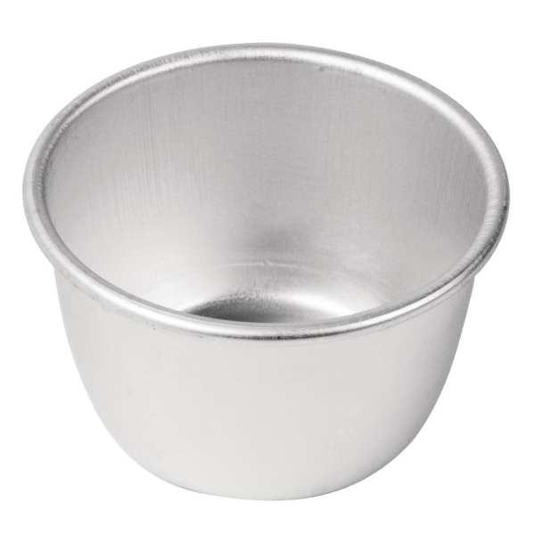 Vogue Mini Pudding Basin Aluminium - 50x85mm dia-0