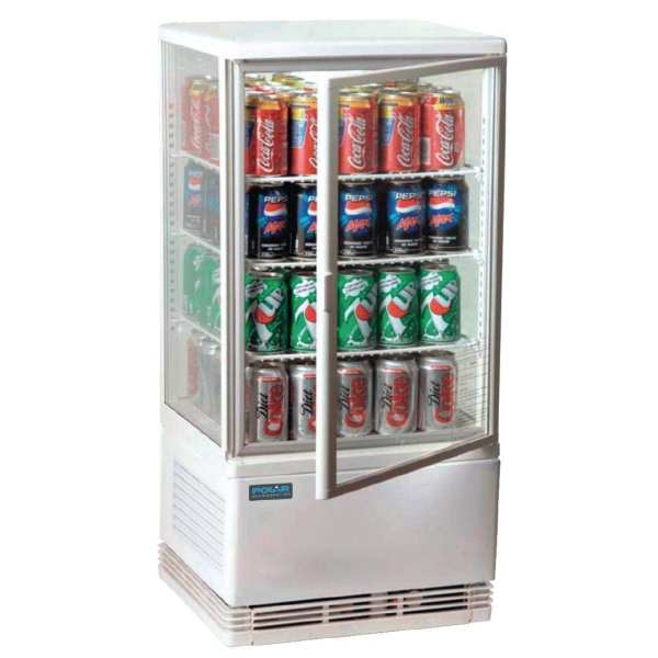 Polar Chilled Display Cabinet White - 68Ltr-0