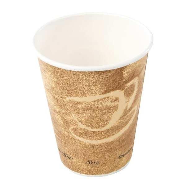 Hot Cup Single Wall Caffee Pattern - 8oz (Box 1000)-0