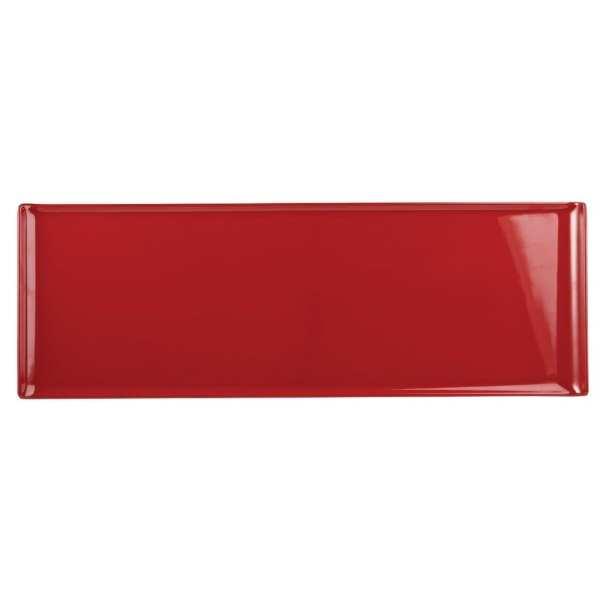 Alchemy Buffet Red Melamine Rectangular Tray - 580x200mm (Box 4) (Direct)-0