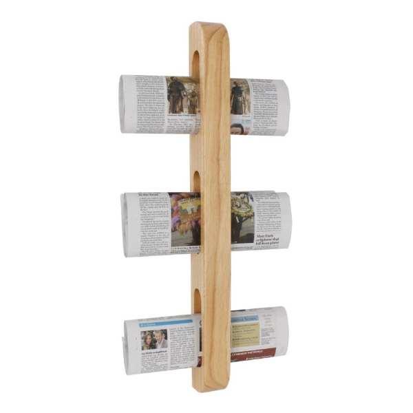Olympia Wooden Magazine Rack - 605x70x45mm-0