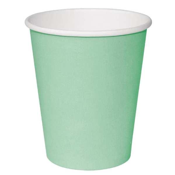 Fiesta Hot Cups Single Wall Aqua - 228ml (8oz) (Box 1000)-0