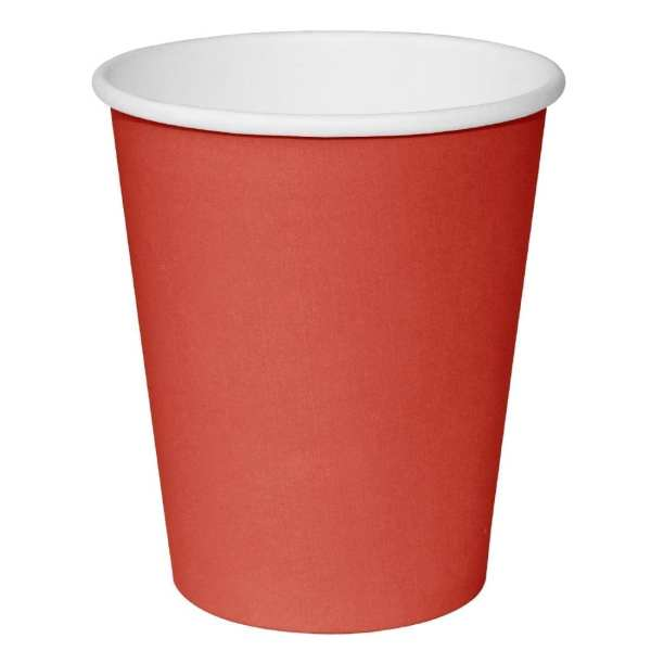 Fiesta Hot Cups Single Wall Red - 228ml (8oz) (Box 1000)-0