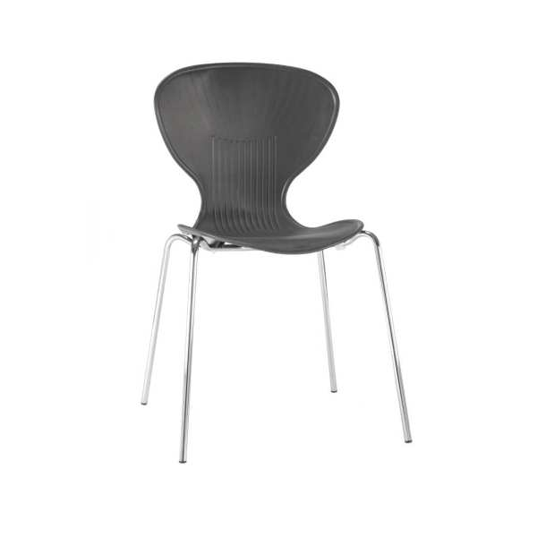 Bolero Stacking PP Sidechair (Black) (Pack 4) (Direct)-0