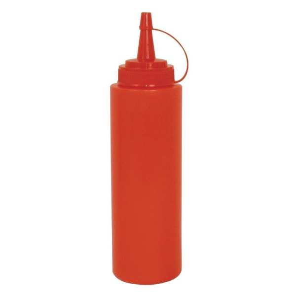 Vogue Squeeze Bottle Red - 12oz-0