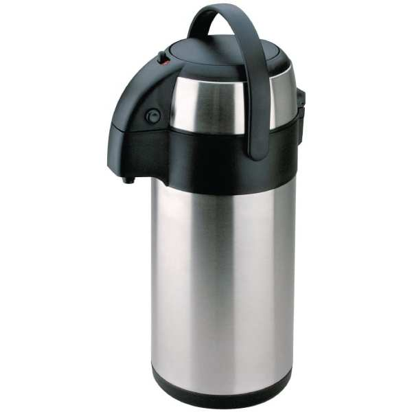 Olympia Pump Action Airpot St/St Double Wall - 2.5Ltr-0