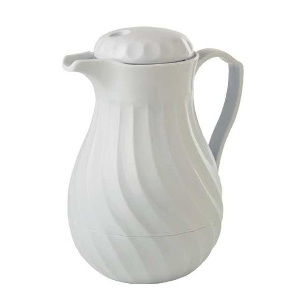 Connoisserve Insulated Swirl Jug White - 0.6Ltr 20oz-0