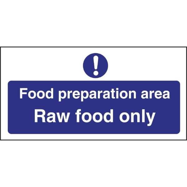Food Prep Area Raw Food Only (Self-Adhesive)-0