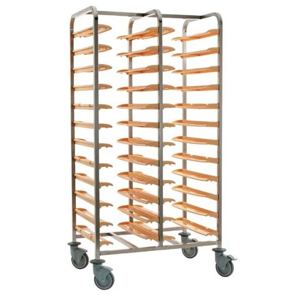 Bourgeat Cafeteria Clearing Trolley Side By Side 24 Trays No Panel (Direct)-0