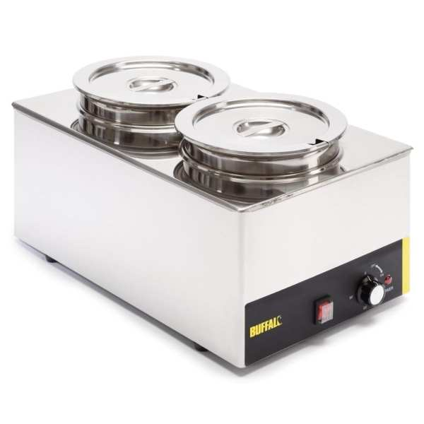 Buffalo Bain Marie without Tap with Two Round Pots-0