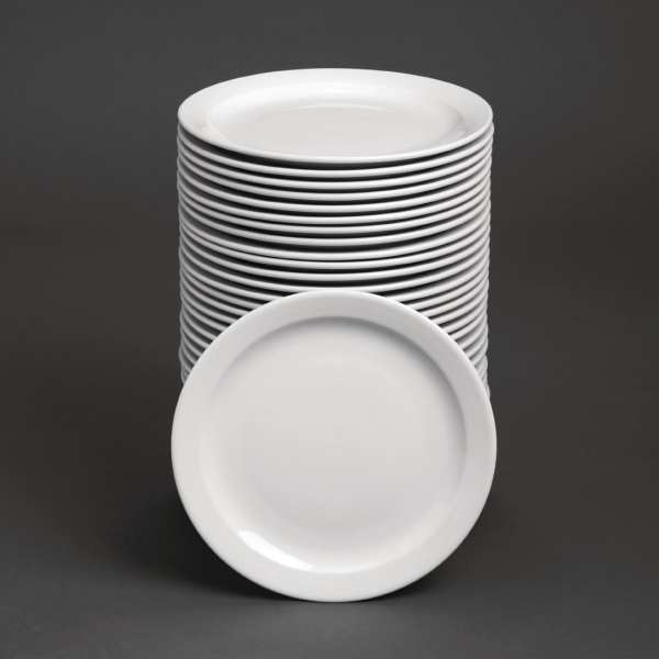 "Bulk Buy - Athena Hotelware Narrow Rimmed Plate - 28.4cm 11"" (Box 36)-0"