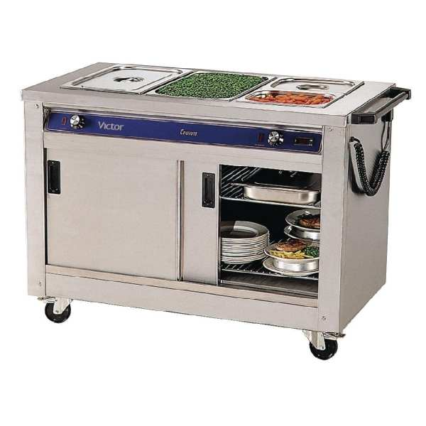 Mobile Crown Bains Marie Hot Cupboard 3 Pan without Pans (Direct)-0