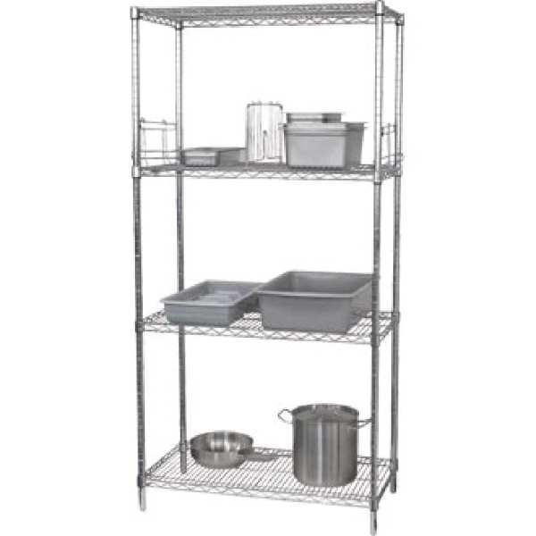 Vogue Flat Pack 4 Shelf Unit - 610x1220mm-0