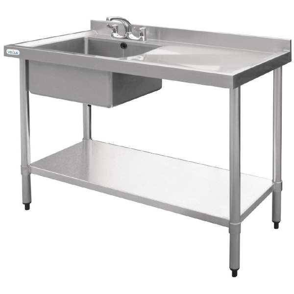 Vogue Single Bowl Sink R/H Drainer - 1000mm-0