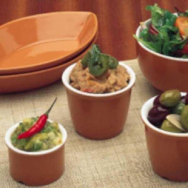 Terracotta Relish Pot 11cl 4oz (Box 24) (Direct)-0