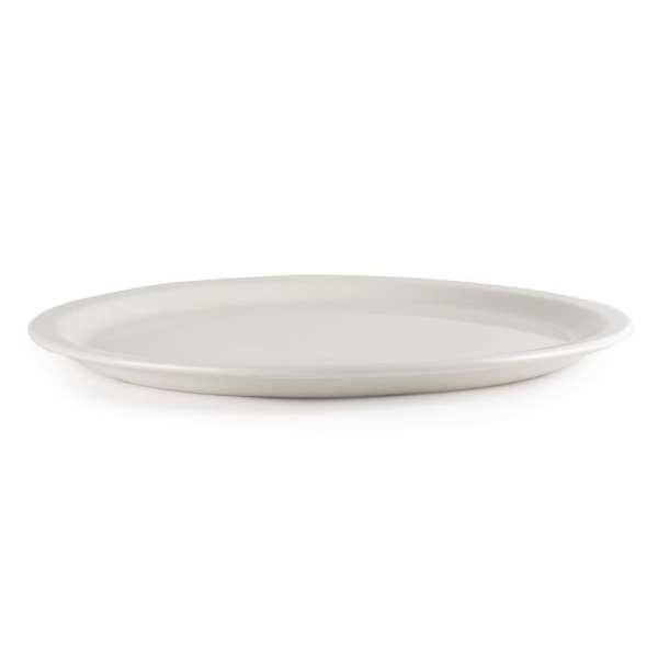 "White Pizza Plate/Platter - 13 1/2"" (Box 6)-0"
