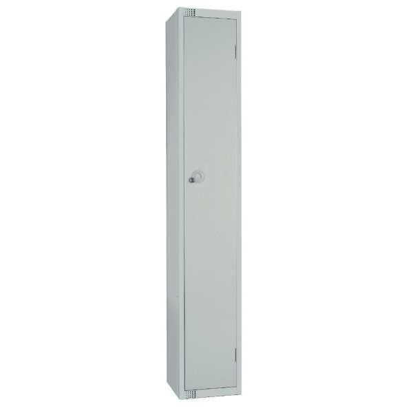 300mm Deep Locker 1 Door Padlock Mid Grey with Sloping Top (Direct)-0