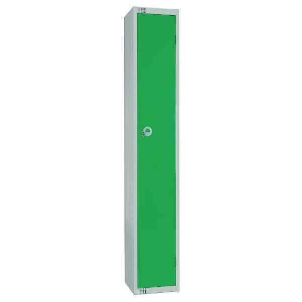300mm Deep Locker 1 Door Padlock Green with Sloping Top (Direct)-0