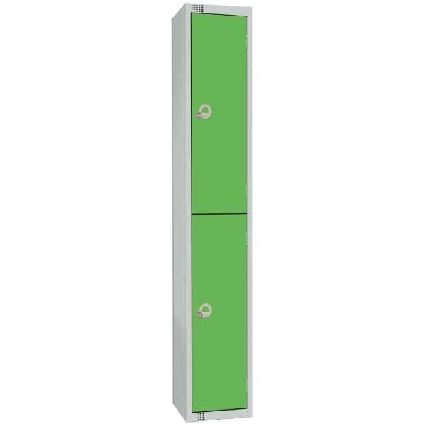 300mm Deep Locker 2 Door Padlock Green - 1800x300x300mm (Direct)-0