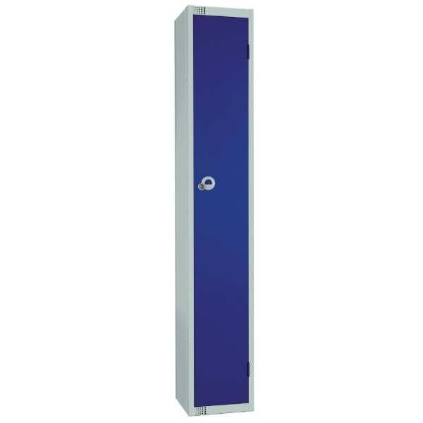 450mm Deep Locker 1 Door Padlock Blue with Sloping Top (Direct)-0