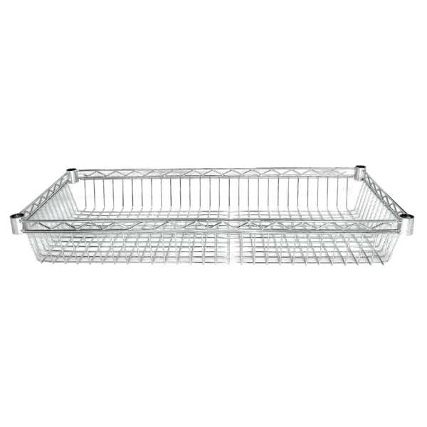 Vogue Wire Basket - 457x915mm (105mm deep) (Pack 2 incl 8 pairs of clips)-0