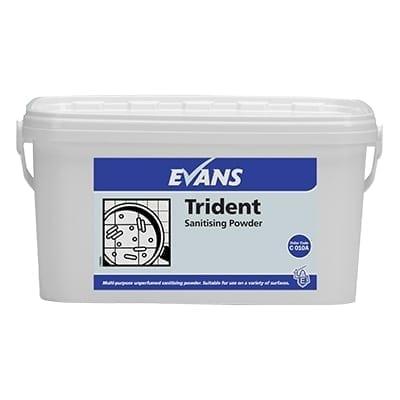Evans - TRIDENT Blue Multi Purpose Sanitising Powder - 5kg Tub