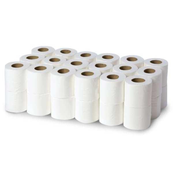 200 Sheet Toilet Rolls - 2ply White - 36 Pack