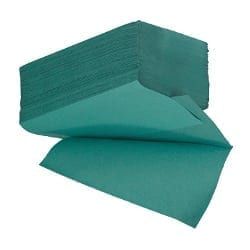 Interfold Fold Paper Hand Towels 1ply - Green - Box 4600