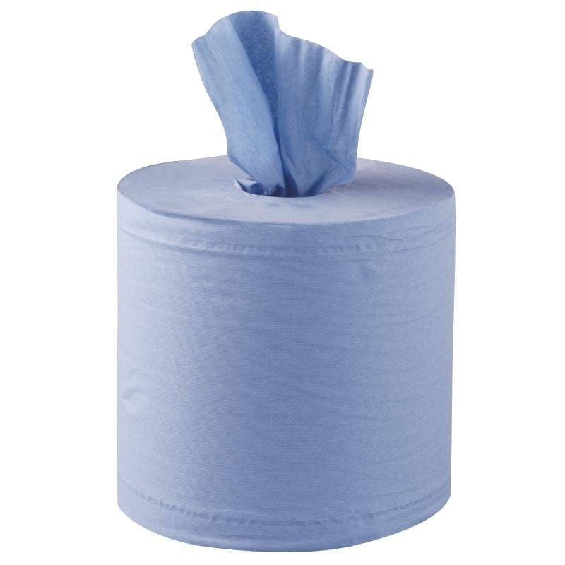 Centrefeed Rolls 2ply 150m - Blue - 6 Pack *Embossed*