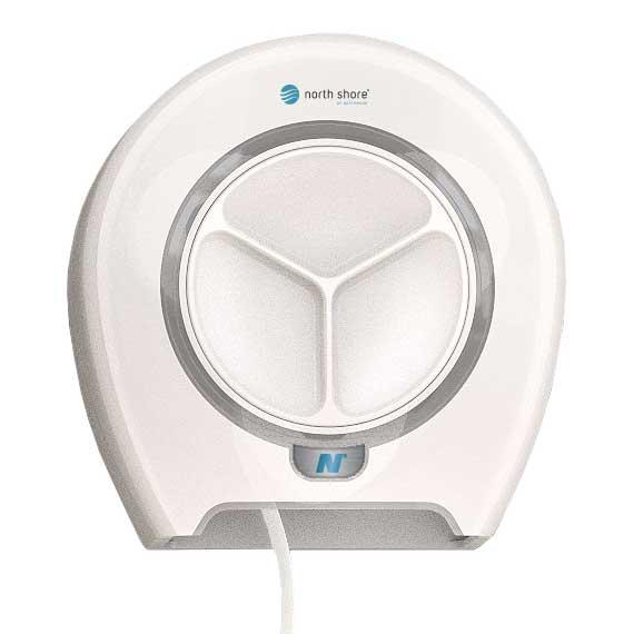 North shore Orbit 4 Roll Toilet Roll Dispenser white