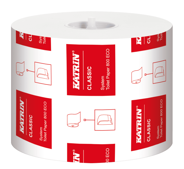 Katrin Classic 800sheet Ecofriendly from recyled fibre toilet roll