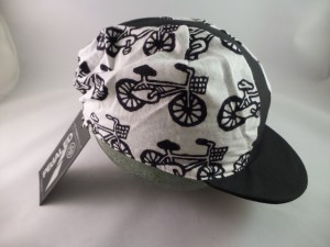 PedalEd Cycle Cap, Black with Bicycles