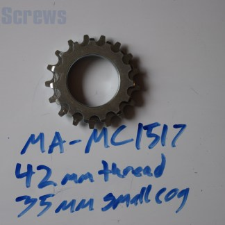 Maillard 700 Course Freewheel MC 7 speed 15T & 17T threaded Cog