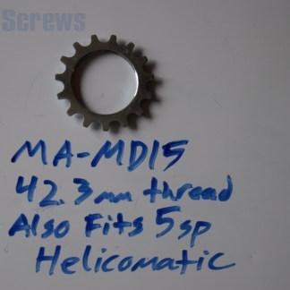 "Maillard 700 Freewheel ""MD"" 5 speed 15T threaded Cog, 5 speed Helicomatic"