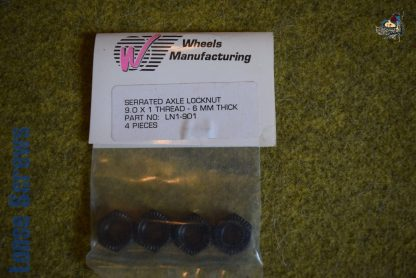 Wheels MFG Shimano Serrated Axle Locknut 4 pack - M9 x 1 x 5.75