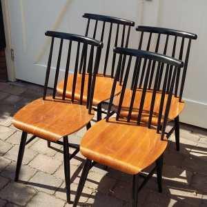 4 stoelen Fanett by Ilmari Tapiovaara