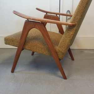 fauteuil uitgevoerd in teak