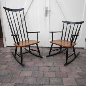 Vintage rocking chairs Pastoe