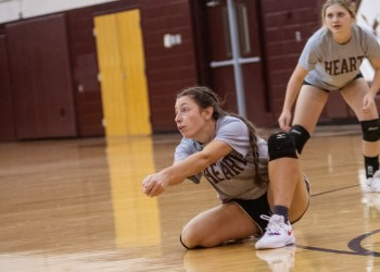 Beckley's Abby Wooton dives for the ball during a practice on Tuesday at Woodrow Wilson. (Heather Belcher/Lootpress).