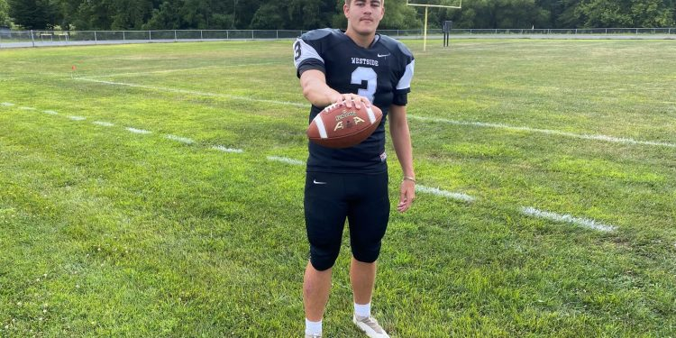 Westside quarterback Jaxon Cogar.