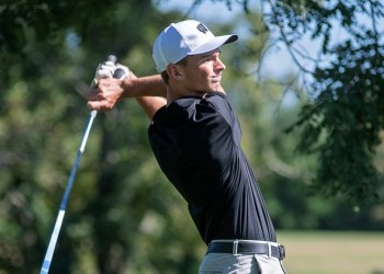 Westside's Tanner Walls tees off at the Grandview Country Club during a match on Sept. 2. (Heather Belcher/Lootpress)